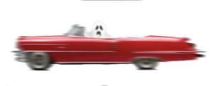 Ghost in Red Cadillac